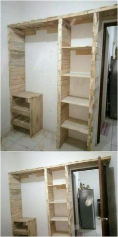 You can even best avail the use of wood pallet for the ideal manufacturing of the closet design piece. This closet framework designing is all done with the arrangement of the pallet planks in neat and clean prospects.