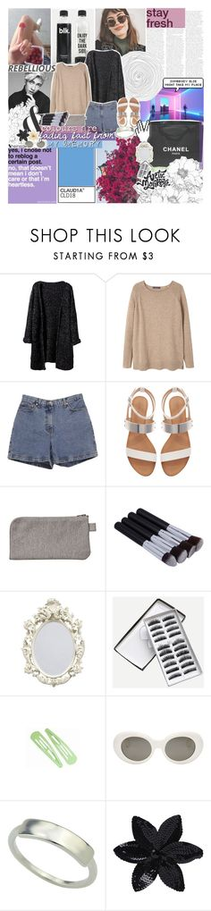 """""""take me to the fête galore"""" by kristen-gregory-sexy-sports-babe ❤ liked on Polyvore featuring GET LOST, MANGO, Ann Taylor, Zara, Chanel, Acne Studios, ASOS and Clips"""