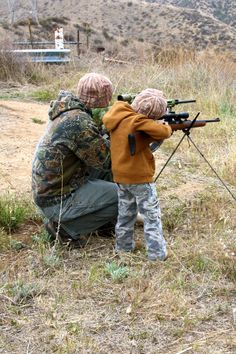 Hunting with Daddy (my Husband and 3 year old son)