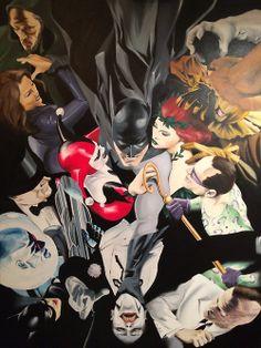Batman fights his villians