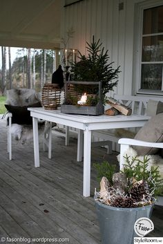 new england,advent,jul,uteplats,veranda