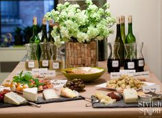 Want to spoil your friends without spending a ton of money? Treat them to a modern wine tasting at home, complete with expertly paired cheeses for an all-around fun cocktail party theme | Stylish Spoon