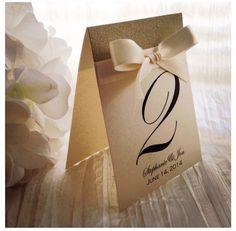 Table de mariage Champagne chiffres numéros de Table par VPElegance