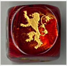 CatMonkeyGames@aol.com $4.00 House LANNISTER - Custom PAIR of ENGRAVED Dice - A Game of Thrones on eBid United States