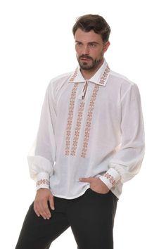 Ie Traditionala Romaneasca Maneca Lunga Motivul Toamna Folk Fashion, Ruffle Blouse, Tunic Tops, Costume, Palestine, Sewing, Traditional, Women, Lace