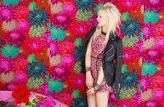 Deco Lace Dress, Spiked Moto Jacket