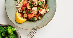 Veldig enkelt og veldig godt. Torsk med tomater og hvitløk Bruschetta, Pasta Salad, Ethnic Recipes, Food, Crab Pasta Salad, Eten, Meals, Macaroni Salad, Diet