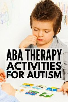 These ABA therapy activities for kids with autism spectrum disorder will give you heaps of ideas you can use at school, in therapy, and at home! Autism Learning, Autism Education, Autism Parenting, Autism Resources, Autism Classroom, Special Education, Aba Therapy For Autism, Classroom Behavior, Classroom Setup