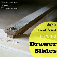 The best DIY projects & DIY ideas and tutorials: sewing, paper craft, DIY. Diy Furniture : How to Build Your Own Drawer Slides- www. Do It Yourself Furniture, Building Furniture, Furniture Repair, Do It Yourself Home, Furniture Projects, Furniture Making, Furniture Makeover, Painted Furniture, Diy Furniture