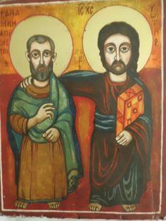 A REPLICA COPY OF ONE FOUND IN THE ANCIENT CHURCH OF THE NATIVITY IN ARBANAZI, NEAR VELIKO TARNOVO, BULGARIA.