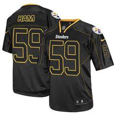 dcee85a093d Jack Ham Men's Elite Lights Out Black Jersey: Nike NFL Pittsburgh Steelers # 59 Nhl