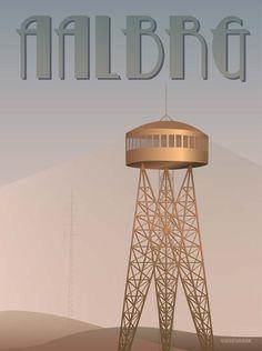 AALBRG - Tårnet – ViSSEVASSEAALBRG - Tårnet  55 meter høj er han, og det er jo også en sjat, når man har valgt at placere sig på en 50 meter høj bakke. Og der har han så stået i mere end 80 år.  Det kan vi da godt forstå med den skønne udsigt over byen og Limfjorden. Hvis du kommer forbi om sommeren, serveres der flade pandekager på toppen.
