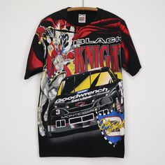 vintage Dale Earnhardt Black Night Rides On All Over Print Shirt Nascar T Shirts, Concert Tees, Dale Earnhardt, Vintage Shirts, 1990s, Cool Shirts, Printed Shirts, Graphic Tees, Trending Outfits