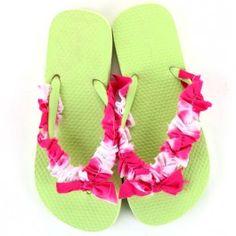 iLoveToCreate Girly Girl Ruffled Flip-Flops