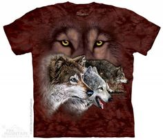 The Mountain Wolf T-shirt | Find 9 Wolves, Hidden Image T-shirts by The Mountain, 103459