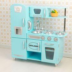 Aqua Blue Vintage Play Kitchen