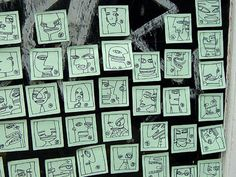 """Put post-it-note drawings up with a sign that says, """"Free Art, Take One"""""""