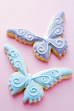 Wedding favour ideas: Peggy Porchen Butterfly Biscuits (BridesMagazine.co.uk)
