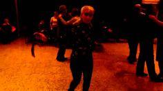 Rosalia Gállego Avila bailando en Casal de Cunit este y otro mas