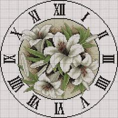 Hours scheme embroidery - New Embroidery - Embroidery Cross Stitch Tree, Cross Stitch Flowers, Cross Stitch Designs, Cross Stitch Patterns, Cross Stitching, Cross Stitch Embroidery, Cross Stitch Numbers, Vintage Cross Stitches, Hand Embroidery Patterns