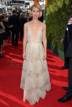 Claire Danes in Armani Prive. This could have been 10x better if she had pulled it up...