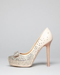 Salvatore Ferragamo Pointed Toe Platform Pumps - Sina Louvre Studs High Heel | Bloomingdales $950