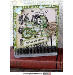 Today We Ride! Cute sample card using Darkroom Rubber Stamp!