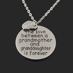 The Love Between Grandma and Granddaughter Family Heart Pendant Necklace #necklace #grandparents