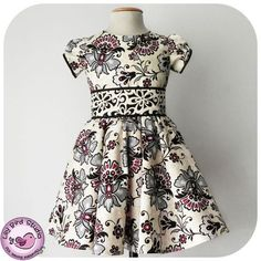 Amanda's Dress party dress sewing pattern for girls by Lily Bird Studio $9.00