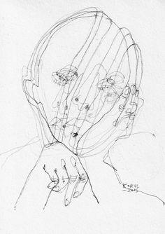 Artist Research – Karolina Koryl Illustration Sketches, Art Sketches, Art Drawings, Image Mode, Art Graphique, Wire Art, Art Plastique, Line Drawing, Art Inspo