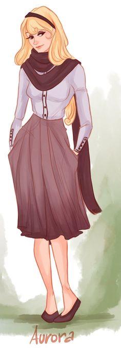 Hipster Aurora: Illustration by Victoria Ridzel