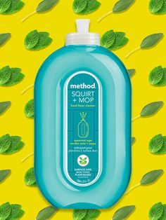 fight for your right to the five-second rule with a little help from our new spearmint sage squirt + mop hard floor cleaner.