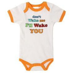 Love this adorable cotton onesie! Cute screen print saying on front, and bottom snaps for easy access. #baby #onsie #clothes