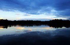 Crystal Lake at dusk