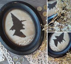 Vintage Witch - PDF Cross Stitch Pattern