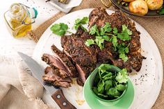 You'll be the talk of the town when you serve up this tender Middle Eastern spiced lamb.