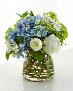 NDI Hydrangea Rose Faux-Floral Arrangement – Bouquet Of Sunflowers Faux Flowers, Fresh Flowers, Silk Flowers, Tropical Flowers, Floral Flowers, Spring Flowers, Beautiful Flower Arrangements, Beautiful Flowers, Flower Arrangements Hydrangeas