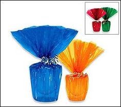 Put a piece of this inside a tall clear vase to make it pop for a centerpiece on your table...Tinted Cellophane Rolls