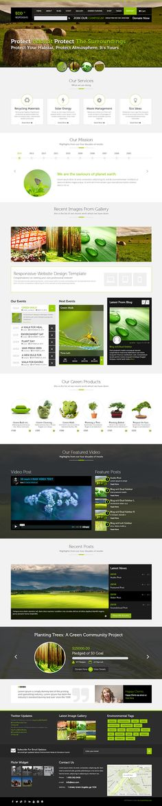 ECO Responsive Environment WordPress Theme on Behance posible web proyecto definitiva