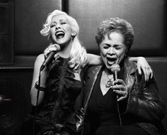 Christina Aguilera and Etta James. Photoshoot by Robert Erdmann (2006)
