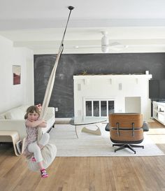 The Joki Hanging Crows Nest is a must have for every child  It s a swing  a  reading nook  a cozy place to rest and DLK approved Swings in the living room  Portrero Hill home owned by Natascha  . Living Room Swing. Home Design Ideas