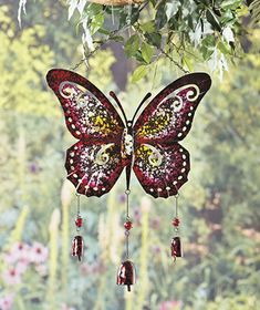 Giant Metal Butterfly Wind Chimes