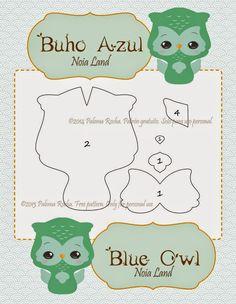 Tutorial: Búho azul Tutorial: Blue Owl