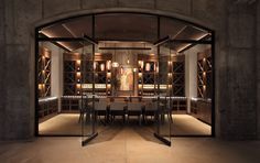 Image 31 of 31 from gallery of Law Winery / BAR Architects. Photograph by BAR Architects Wine Bar Design, Wine Cellar Design, Winery Tasting Room, Wine Tasting, Home Wine Cellars, Architecture Design, House Design, Design Design, Interior Design