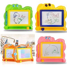 1PCS children writing doodle stencil painting magnetic Drawing board set Learning & Education Toys Hobbies for kids