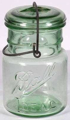 Pint Ball Ideal Green Fruit Jar Ebay  $50.00