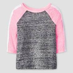 Baby Girls' 3/4 Sleeve Raglan T-Shirt Baby Cat & Jack™ - Black/Pink : Target