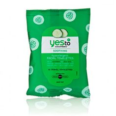 Yes To Yes To Cucumbers - Soothing Hypoallergenic Facial Towelettes   For sensitive skin and removes makeup