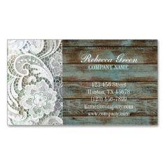 padrão de madeira do vintage celeiro laço país ocidental de moda cartões de visita de dupla face (Pack of 100)
