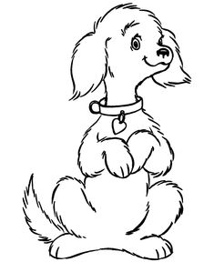 cartoon coloring pages dog on a sunny day free printable and dog
